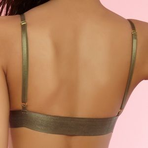 Body Frosting Tops - •All Caged Up• Olive Green Bralette